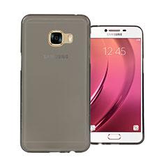 Silikon Schutzhülle Ultra Dünn Tasche Durchsichtig Transparent für Samsung Galaxy C5 SM-C5000 Grau