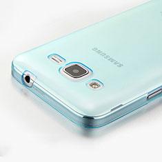 Silikon Schutzhülle Ultra Dünn Tasche Durchsichtig Transparent für Samsung Galaxy Core Prime G360F G360GY Blau