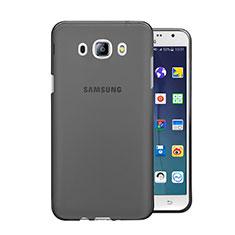Silikon Schutzhülle Ultra Dünn Tasche Durchsichtig Transparent für Samsung Galaxy J5 Duos (2016) Grau
