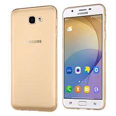 Silikon Schutzhülle Ultra Dünn Tasche Durchsichtig Transparent für Samsung Galaxy J5 Prime G570F Gold