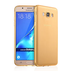 Silikon Schutzhülle Ultra Dünn Tasche Durchsichtig Transparent für Samsung Galaxy J7 (2016) J710F J710FN Gold