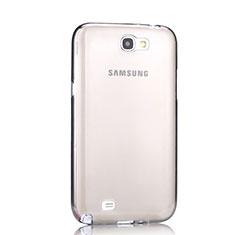 Silikon Schutzhülle Ultra Dünn Tasche Durchsichtig Transparent für Samsung Galaxy Note 2 N7100 N7105 Grau