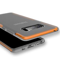 Silikon Schutzhülle Ultra Dünn Tasche Durchsichtig Transparent für Samsung Galaxy Note 8 Orange