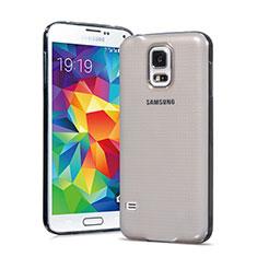 Silikon Schutzhülle Ultra Dünn Tasche Durchsichtig Transparent für Samsung Galaxy S5 G900F G903F Grau