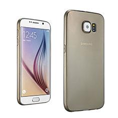 Silikon Schutzhülle Ultra Dünn Tasche Durchsichtig Transparent für Samsung Galaxy S6 SM-G920 Grau