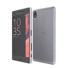 Silikon Schutzhülle Ultra Dünn Tasche Durchsichtig Transparent für Sony Xperia X Grau