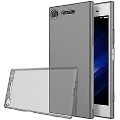 Silikon Schutzhülle Ultra Dünn Tasche Durchsichtig Transparent für Sony Xperia XZ1 Grau