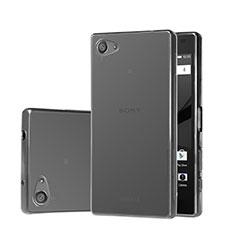 Silikon Schutzhülle Ultra Dünn Tasche Durchsichtig Transparent für Sony Xperia Z5 Compact Grau