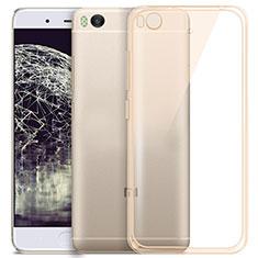 Silikon Schutzhülle Ultra Dünn Tasche Durchsichtig Transparent für Xiaomi Mi 5S 4G Gold