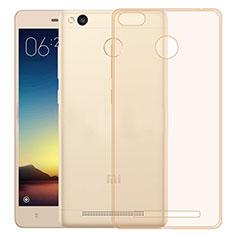 Silikon Schutzhülle Ultra Dünn Tasche Durchsichtig Transparent für Xiaomi Redmi 3 Pro Gold