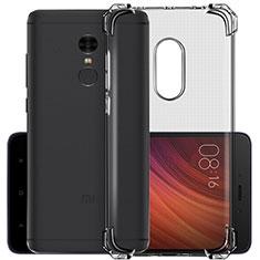 Silikon Schutzhülle Ultra Dünn Tasche Durchsichtig Transparent für Xiaomi Redmi Note 4 Standard Edition Grau