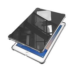 Silikon Schutzhülle Ultra Dünn Tasche Durchsichtig Transparent H01 für Apple iPad Air 2 Schwarz