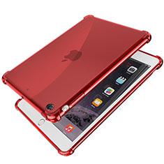 Silikon Schutzhülle Ultra Dünn Tasche Durchsichtig Transparent H01 für Apple iPad Mini 2 Rot