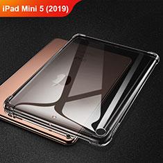 Silikon Schutzhülle Ultra Dünn Tasche Durchsichtig Transparent H01 für Apple iPad Mini 5 (2019) Grau