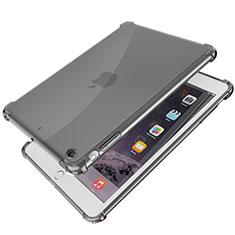 Silikon Schutzhülle Ultra Dünn Tasche Durchsichtig Transparent H01 für Apple iPad Mini Schwarz