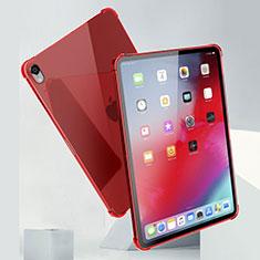 Silikon Schutzhülle Ultra Dünn Tasche Durchsichtig Transparent H01 für Apple iPad Pro 11 (2018) Rot