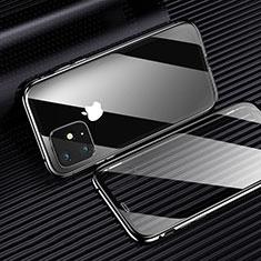 Silikon Schutzhülle Ultra Dünn Tasche Durchsichtig Transparent H01 für Apple iPhone 11 Schwarz