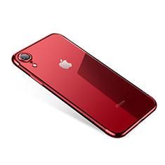 Silikon Schutzhülle Ultra Dünn Tasche Durchsichtig Transparent H01 für Apple iPhone XR Rot