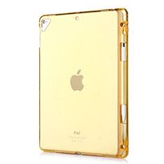 Silikon Schutzhülle Ultra Dünn Tasche Durchsichtig Transparent H01 für Apple New iPad 9.7 (2017) Gold