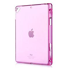 Silikon Schutzhülle Ultra Dünn Tasche Durchsichtig Transparent H01 für Apple New iPad 9.7 (2017) Rot