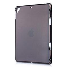 Silikon Schutzhülle Ultra Dünn Tasche Durchsichtig Transparent H01 für Apple New iPad 9.7 (2018) Schwarz