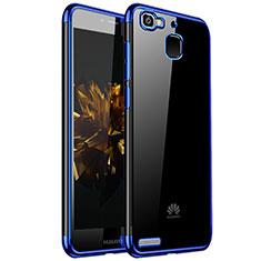 Silikon Schutzhülle Ultra Dünn Tasche Durchsichtig Transparent H01 für Huawei Enjoy 5S Blau