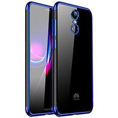 Silikon Schutzhülle Ultra Dünn Tasche Durchsichtig Transparent H01 für Huawei Enjoy 6 Blau