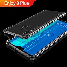 Silikon Schutzhülle Ultra Dünn Tasche Durchsichtig Transparent H01 für Huawei Enjoy 9 Plus Schwarz