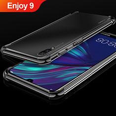 Silikon Schutzhülle Ultra Dünn Tasche Durchsichtig Transparent H01 für Huawei Enjoy 9 Schwarz
