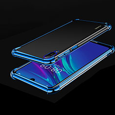Silikon Schutzhülle Ultra Dünn Tasche Durchsichtig Transparent H01 für Huawei Enjoy 9e Blau