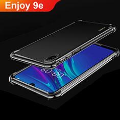 Silikon Schutzhülle Ultra Dünn Tasche Durchsichtig Transparent H01 für Huawei Enjoy 9e Schwarz
