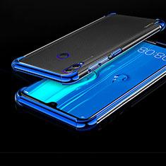 Silikon Schutzhülle Ultra Dünn Tasche Durchsichtig Transparent H01 für Huawei Enjoy Max Blau