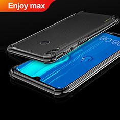 Silikon Schutzhülle Ultra Dünn Tasche Durchsichtig Transparent H01 für Huawei Enjoy Max Schwarz