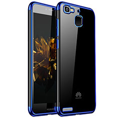 Silikon Schutzhülle Ultra Dünn Tasche Durchsichtig Transparent H01 für Huawei G8 Mini Blau