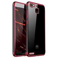 Silikon Schutzhülle Ultra Dünn Tasche Durchsichtig Transparent H01 für Huawei G8 Mini Rot