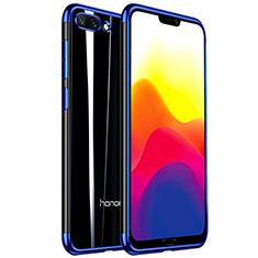 Silikon Schutzhülle Ultra Dünn Tasche Durchsichtig Transparent H01 für Huawei Honor 10 Blau