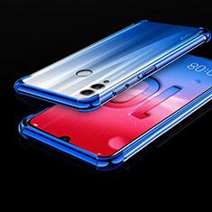 Silikon Schutzhülle Ultra Dünn Tasche Durchsichtig Transparent H01 für Huawei Honor 10 Lite Blau
