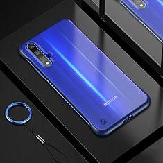 Silikon Schutzhülle Ultra Dünn Tasche Durchsichtig Transparent H01 für Huawei Honor 20 Blau