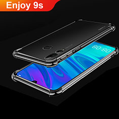 Silikon Schutzhülle Ultra Dünn Tasche Durchsichtig Transparent H01 für Huawei Honor 20 Lite Schwarz