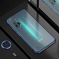 Silikon Schutzhülle Ultra Dünn Tasche Durchsichtig Transparent H01 für Huawei Honor 20 Pro Blau