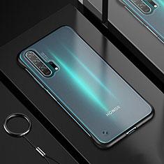Silikon Schutzhülle Ultra Dünn Tasche Durchsichtig Transparent H01 für Huawei Honor 20 Pro Schwarz