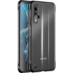 Silikon Schutzhülle Ultra Dünn Tasche Durchsichtig Transparent H01 für Huawei Honor 20 Schwarz