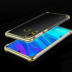Silikon Schutzhülle Ultra Dünn Tasche Durchsichtig Transparent H01 für Huawei Honor 20E Gold