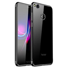 Silikon Schutzhülle Ultra Dünn Tasche Durchsichtig Transparent H01 für Huawei Honor 8 Lite Schwarz