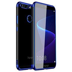 Silikon Schutzhülle Ultra Dünn Tasche Durchsichtig Transparent H01 für Huawei Honor 8 Pro Blau