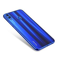 Silikon Schutzhülle Ultra Dünn Tasche Durchsichtig Transparent H01 für Huawei Honor 8X Blau