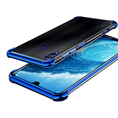 Silikon Schutzhülle Ultra Dünn Tasche Durchsichtig Transparent H01 für Huawei Honor 8X Max Blau
