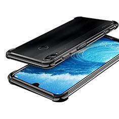 Silikon Schutzhülle Ultra Dünn Tasche Durchsichtig Transparent H01 für Huawei Honor 8X Max Schwarz