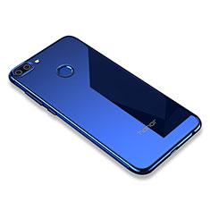 Silikon Schutzhülle Ultra Dünn Tasche Durchsichtig Transparent H01 für Huawei Honor 9i Blau