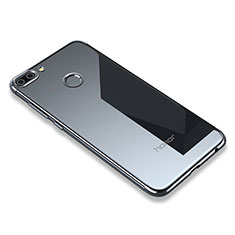 Silikon Schutzhülle Ultra Dünn Tasche Durchsichtig Transparent H01 für Huawei Honor 9i Grau